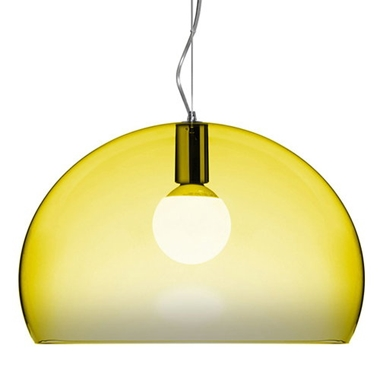 Fly yellow suspension lamp